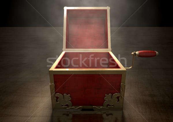 Open Jack-In-The-Box Antique Stock photo © albund