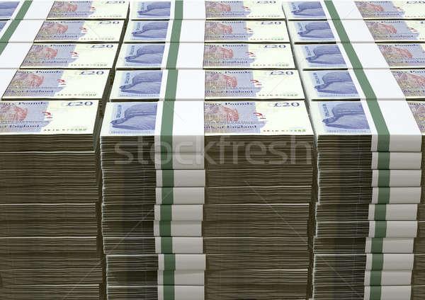 İngilizler pound notlar yalıtılmış Stok fotoğraf © albund