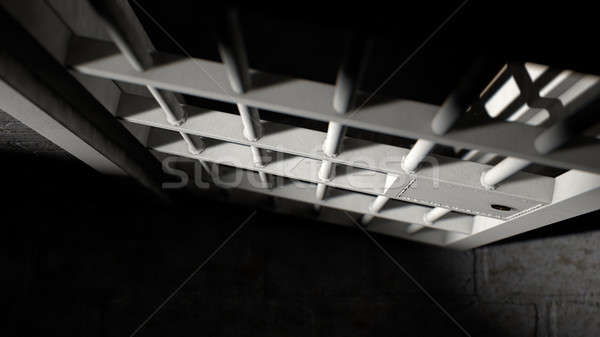 Stock photo: Jail Cell Door And Welded Iron Bars
