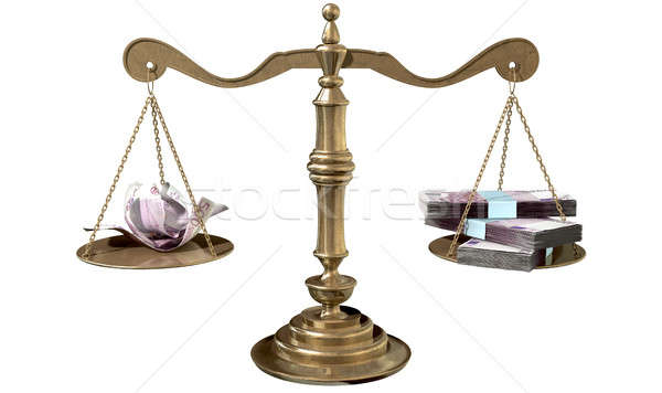 Inequality Scales Of Justice Income Gap Europe Stock photo © albund