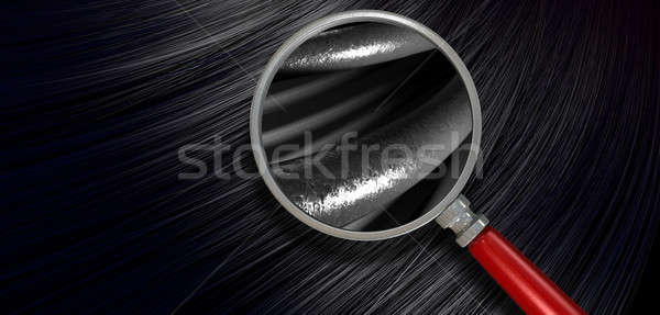 Black Hair Blowing With Magnification Stock photo © albund