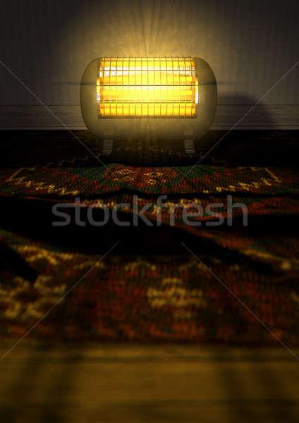 Vintage aquecedor tapete elétrico Foto stock © albund