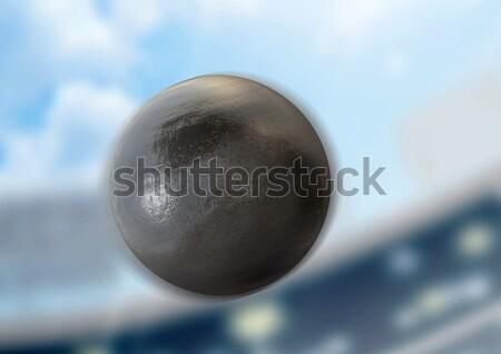 Shotput Ball Day Stadium Stock photo © albund