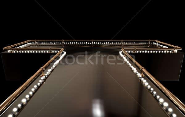 Sahne düzenli boş bronz Stok fotoğraf © albund