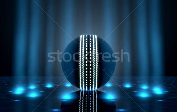 ボール ステージ 未来的な スポーツ クリケット ネオン ストックフォト © albund