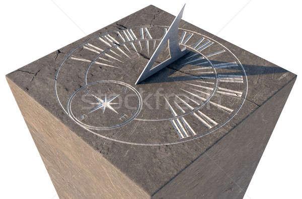 Zegar słoneczny kamień starych Roman stałego Zdjęcia stock © albund