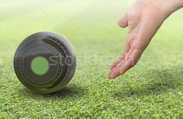 Hand And Lawn Bowl Stock photo © albund