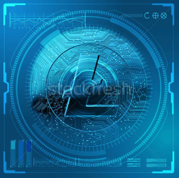 Cryptocurrency Litecoin Futuristic Stock photo © albund