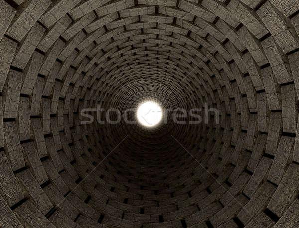 トンネル ビジョン 観点 表示 アップ 希望 ストックフォト © albund