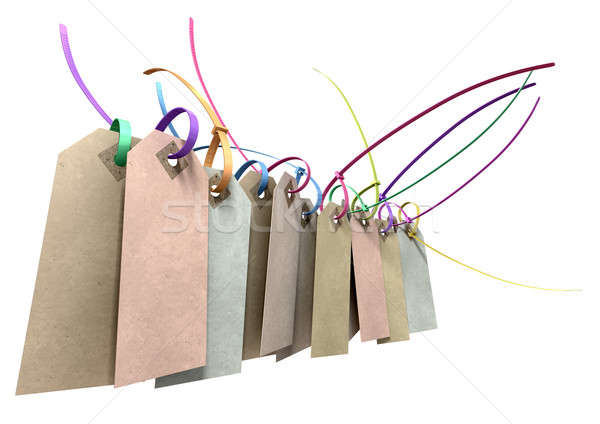 Paper Tag And Colourful Zip Tie Collection Stock photo © albund