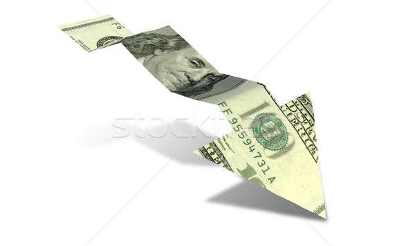 Dollar bank nota trend pijl grafiek Stockfoto © albund
