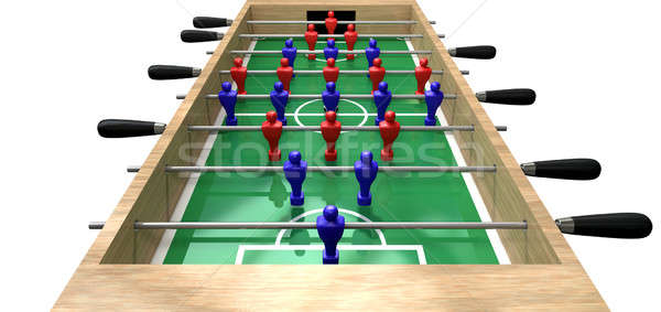 Foosball Table High Top View Stock photo © albund