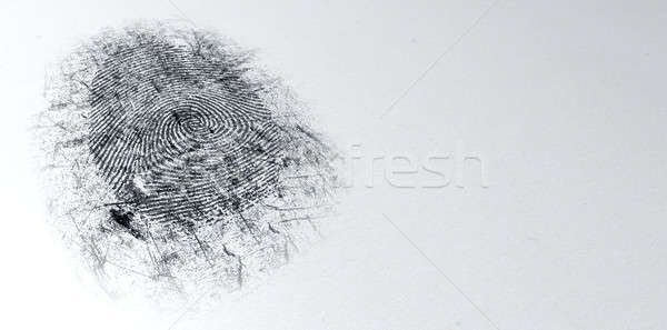 Dusted Crime Scene Fingerprint Stock photo © albund