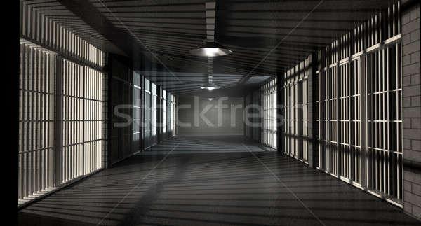 Cárcel corredor prisión noche Foto stock © albund