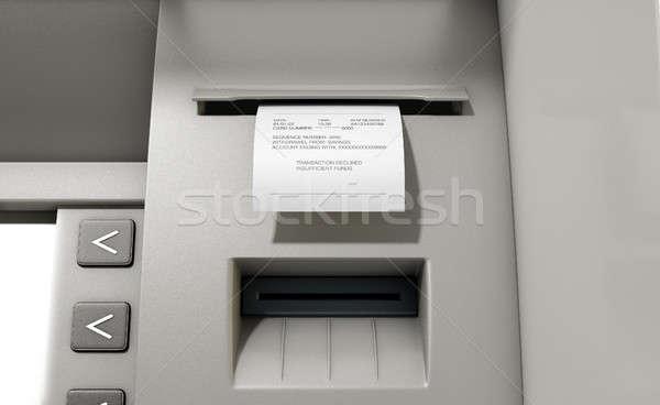 Atm recepción primer plano vista impresión Foto stock © albund