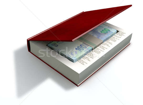 Concealed Rand Notes In A Book Front Stock photo © albund