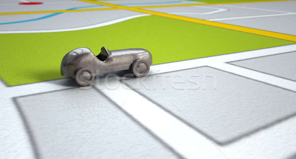 GPS carte métal jouet voiture navigation Photo stock © albund
