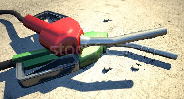 Petrol Nozzles In The Desert Stock photo © albund