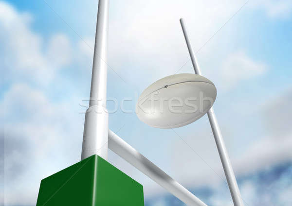Stock photo: Rugby Posts Conversion Day