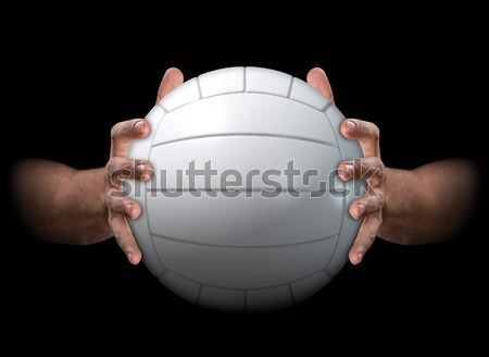 Hands Gripping Basketball Stock photo © albund