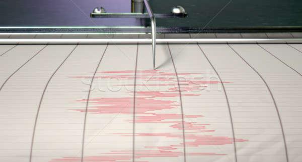 Stock fotó: Földrengés · tevékenység · közelkép · gép · tű · rajz