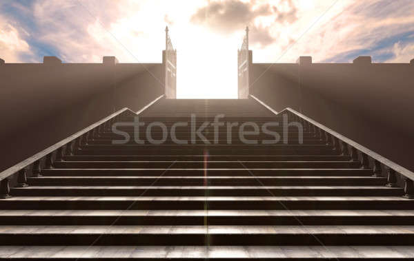 The Stairs To Heavens Gates Stock photo © albund