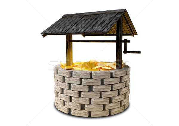Wishing Well With Gold Coins Stock photo © albund