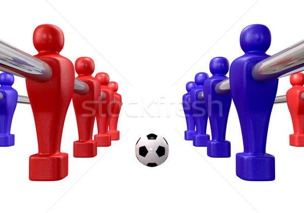 Foosball Kickoff Isolated Stock photo © albund