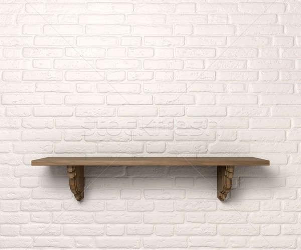 Shelf On A Wall Front Stock photo © albund