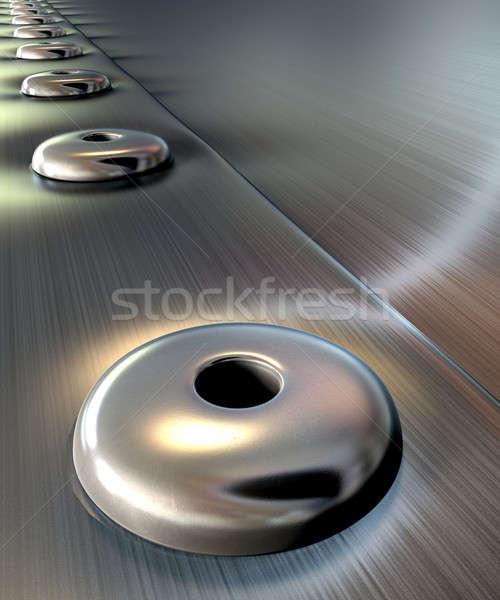 Metal perspektywy dwa sztuk wraz Zdjęcia stock © albund
