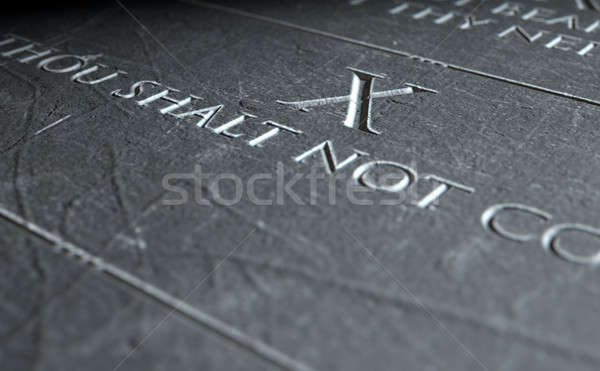 The Tenth Commandment Stock photo © albund