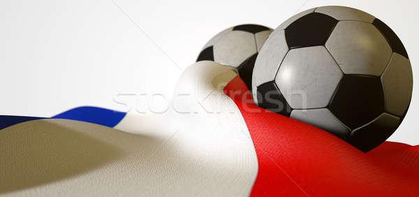 France Flag And Soccer Ball Stock photo © albund