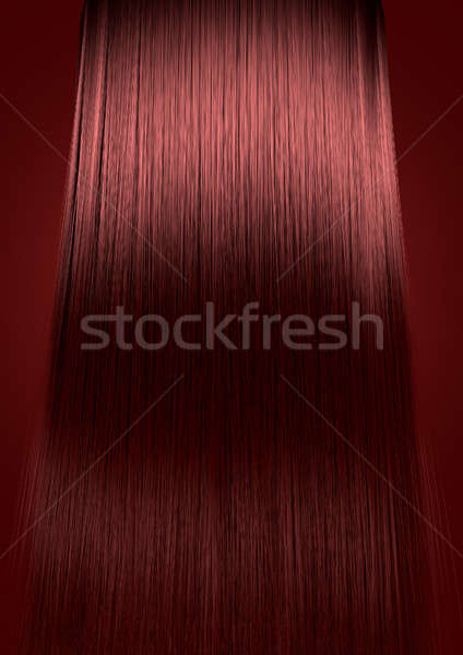 Red Hair Perfect Straight Stock photo © albund