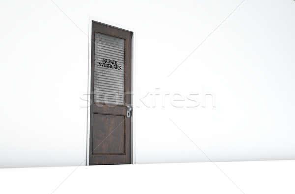 Door In Private Eye Room Stock photo © albund