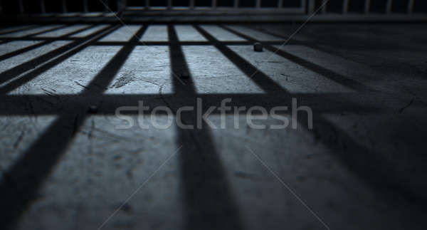 Stock photo: Jail Cell Bars Cast Shadows