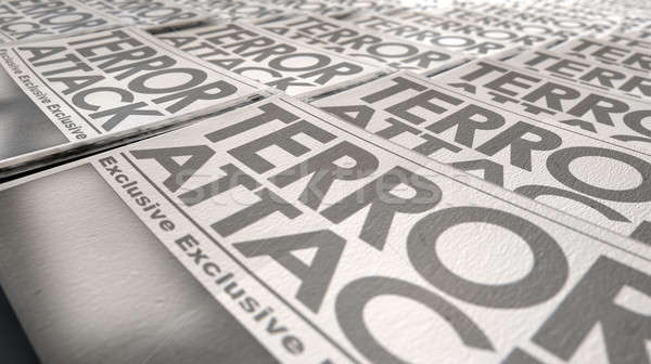Newspaper Terrorism Press Run End Stock photo © albund
