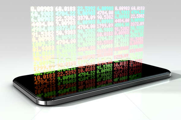Smart Phone Stock App Stock photo © albund
