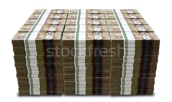 Canadian Dollar Notes Bundles Stack Stock photo © albund