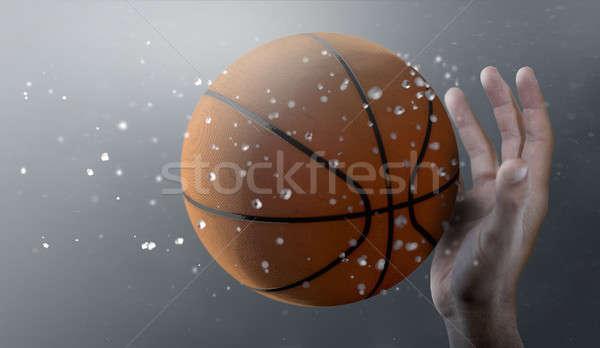 Basketball In Flight Stock photo © albund