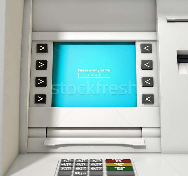 ATM Screen Enter PIN Code Stock photo © albund