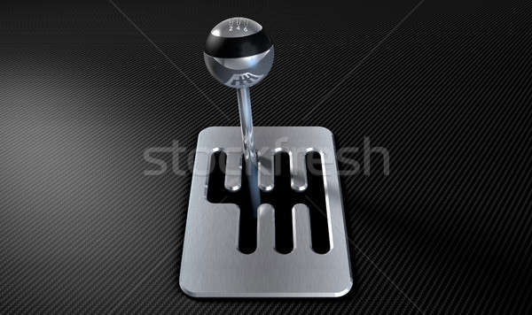Steel And Chrome Stick Shift Stock photo © albund