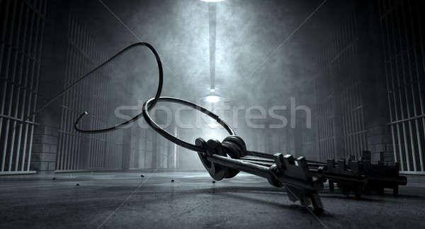 Carcere break tasti carcere cell immagine Foto d'archivio © albund