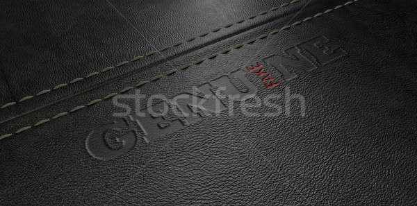 Sahte deri görüntü düzenli levha Stok fotoğraf © albund