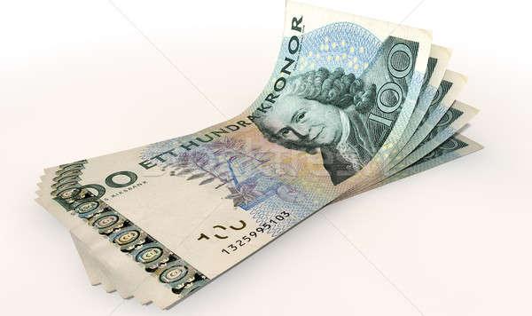 Kronor Bank Notes Spread Stock photo © albund
