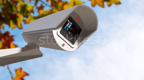 Surveillance Camera In The Daytime Stock photo © albund