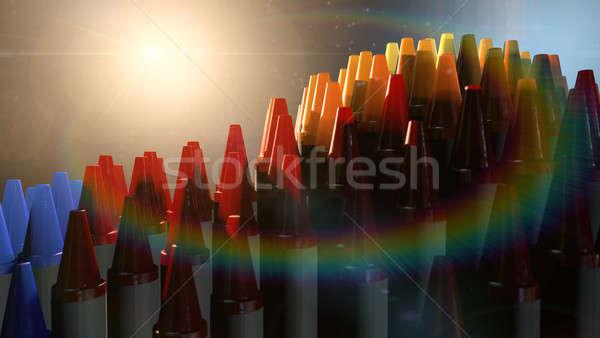 Cera giz de cera imaginação dramático espectro colorido Foto stock © albund
