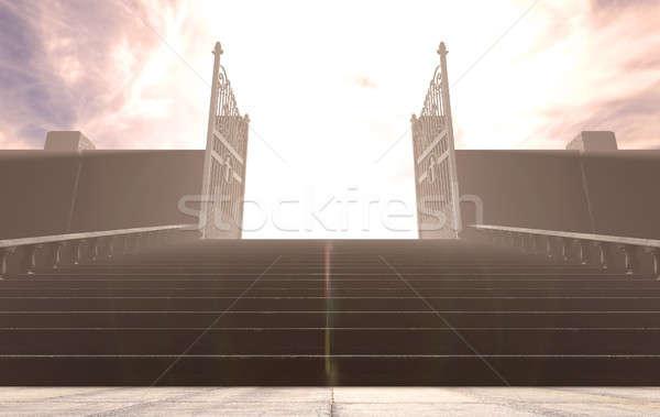 The Stairs To Heavens Gates Stock photo © albund