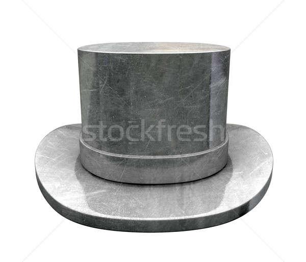Haut chapeau isolé jouet fer vêtements Photo stock © albund