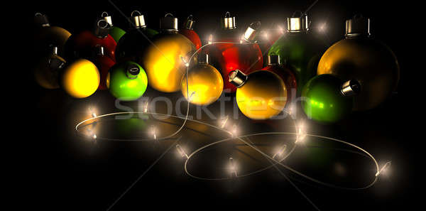 Christmas Decorations And Lights Stock photo © albund