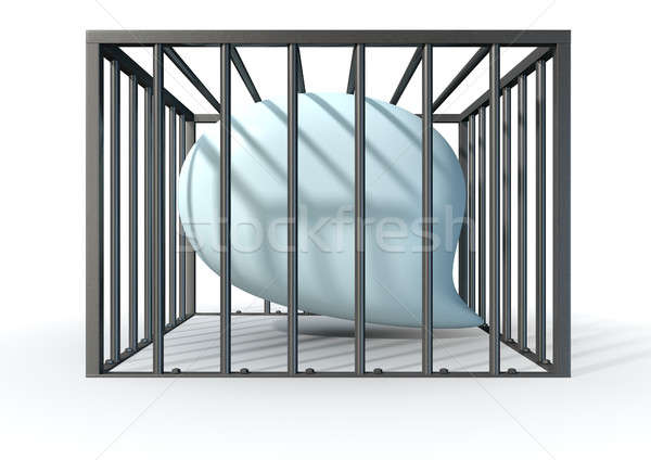Censorship Of Speech Caged Stock photo © albund